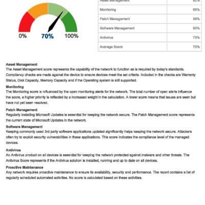Example report - summary
